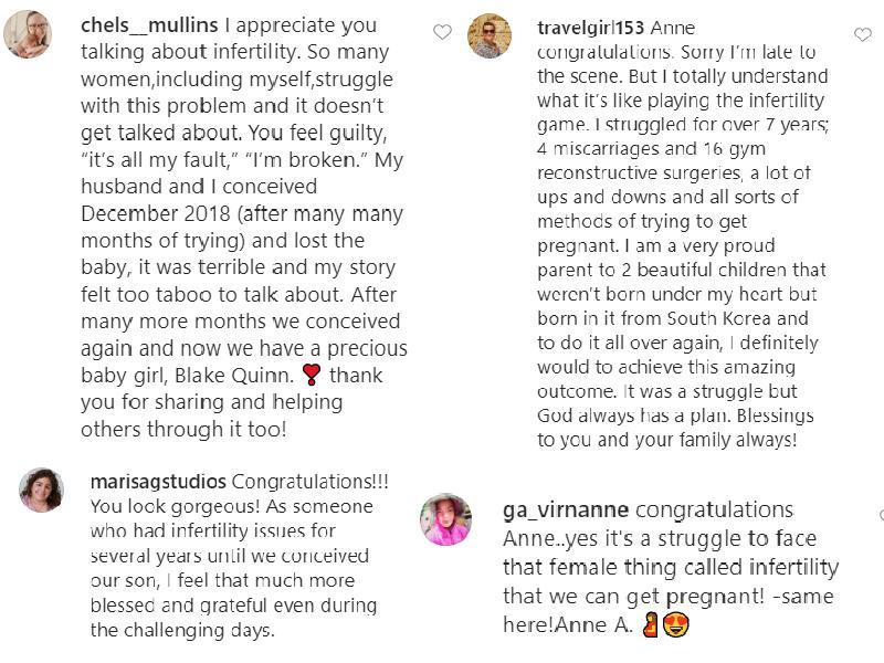 Comments on Anne Hathaway's infertility post