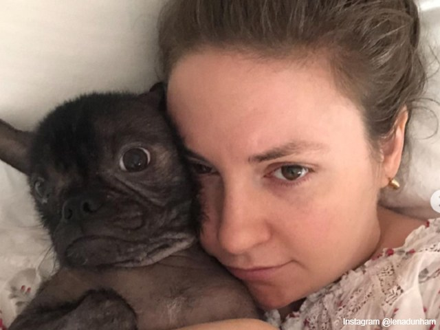 Lena Dunham shared a picture with her pet