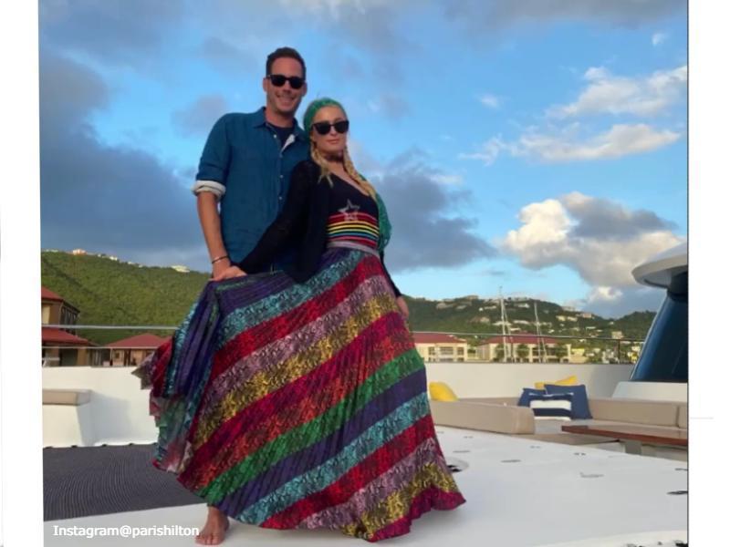 Paris Hilton with Carter Reum