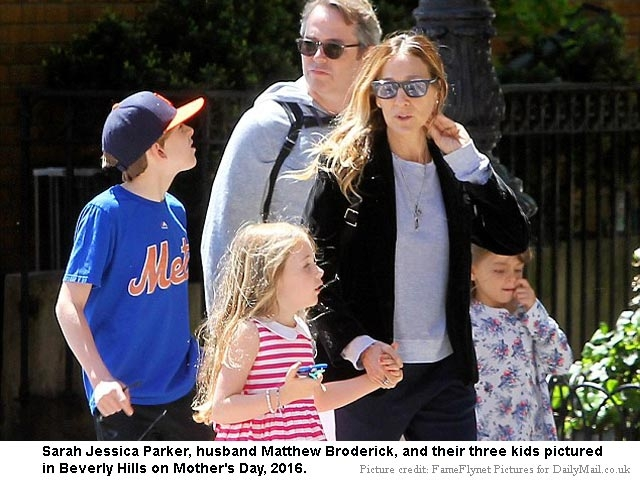 Sarah Jessica Parker with Family