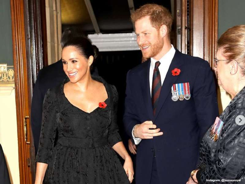 The Duke & Duchess of Sussex at the Festival of Remembrance