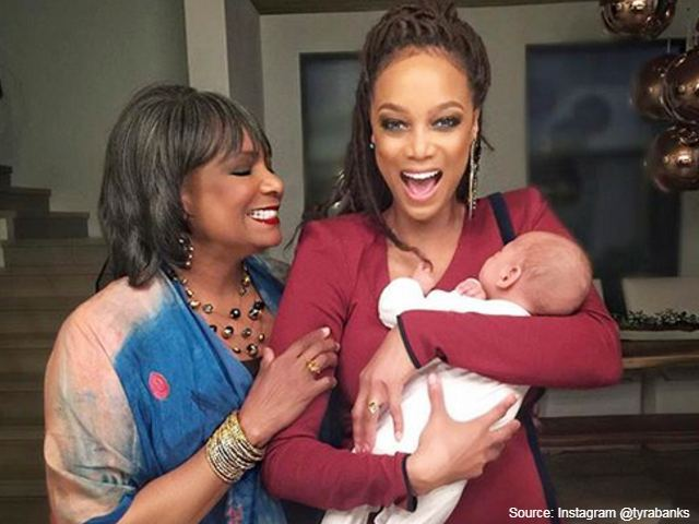 Tyra Banks IVF baby & her mother