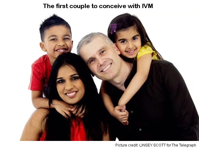 First conceived with IVM