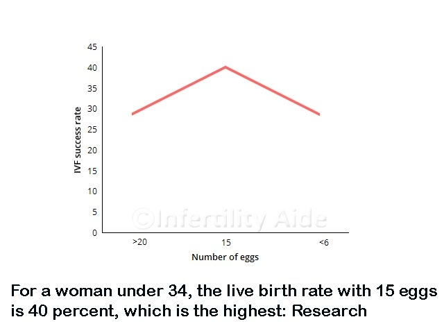 IVF success rate varies with number of eggs