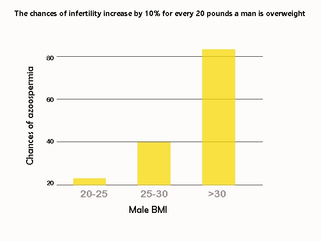 Male fertility drops with increase in BMI