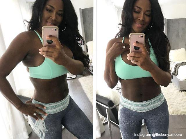 Kenya Moore fit after delivering after baby