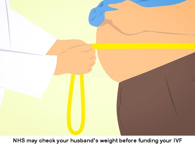 NHS IVF funding depends upon husband's weight