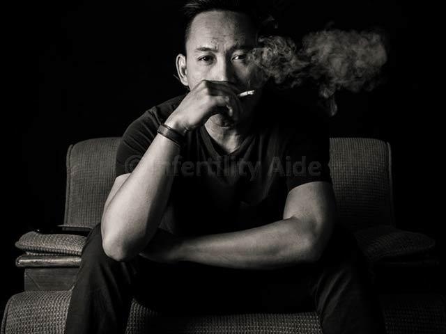 Smoking causing lower sperm count