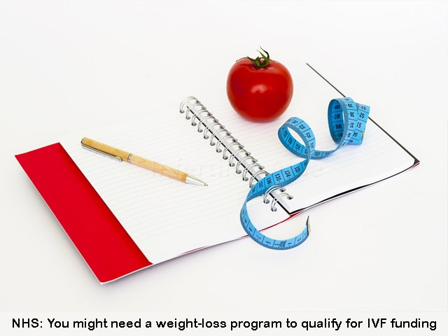 Weight loss for NHS IVF funding