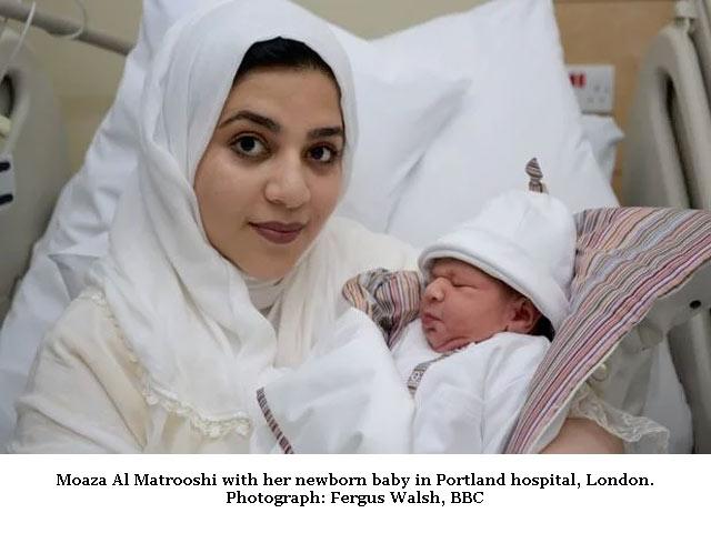 Baby from frozen ovary - Moaza Al Matrooshi
