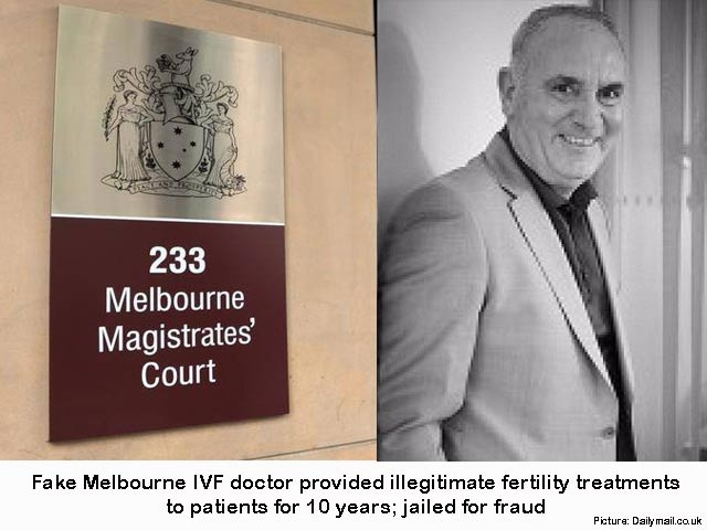Fake IVF doctor in Melbourne, who conned 30 couples