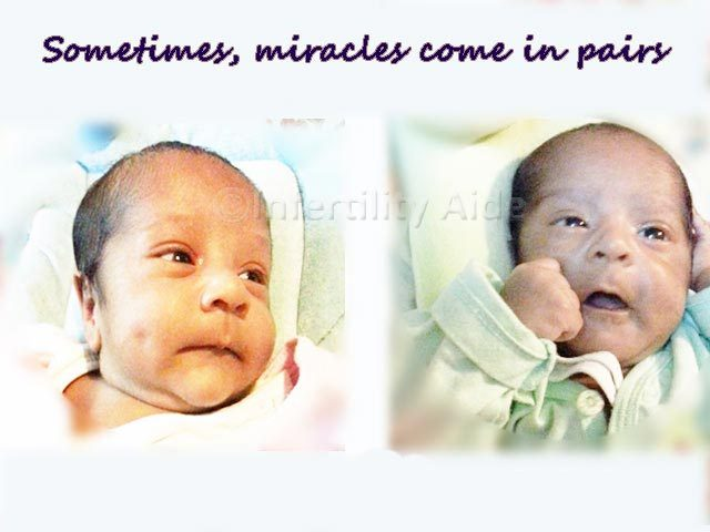 Twins born from IVF - Chandigarh